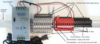 Samples DIN Rail Power Supply and Terminal Block Assembly
