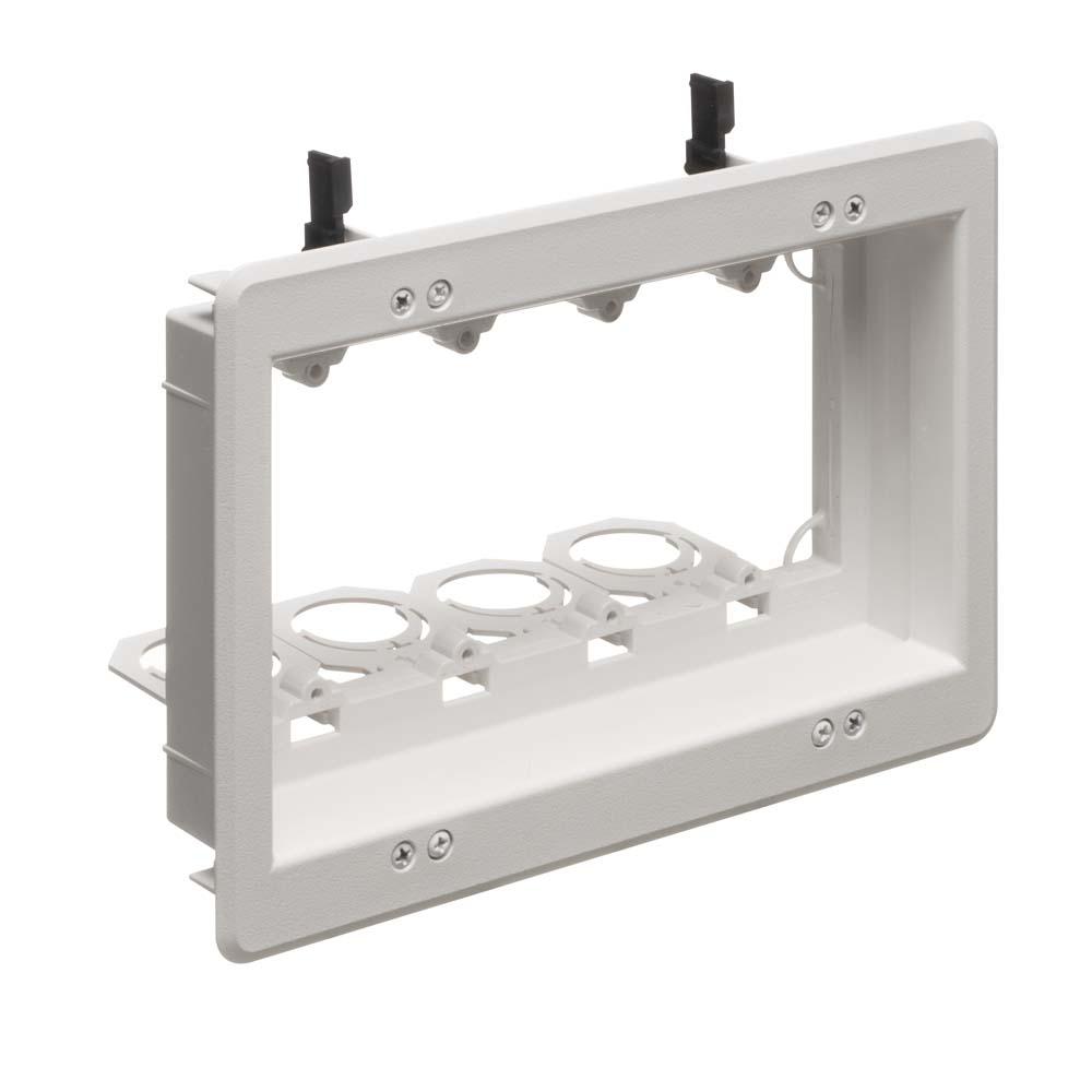 Arlington Lvu4w - Recessed 4 Gang Low Voltage Box