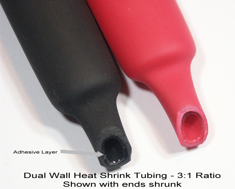 "DW1S3X-4.8 Dual Wall Adhesive Lined 3:1 Heat Shrink Tubing 4.8mm   3//16/"" Black"