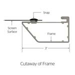 Cinema Contour Projection Screen Cutaway