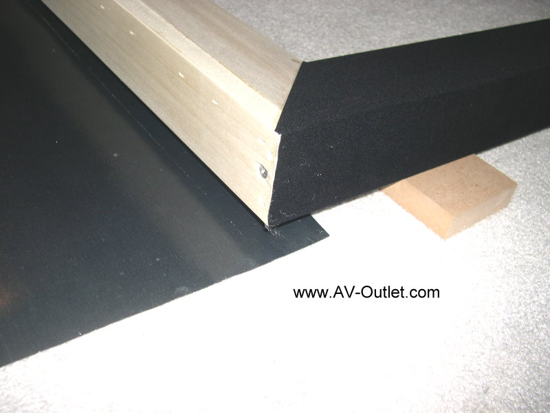 DIY Projection Screen Frame - Step 2 Blackout Frame Fabric