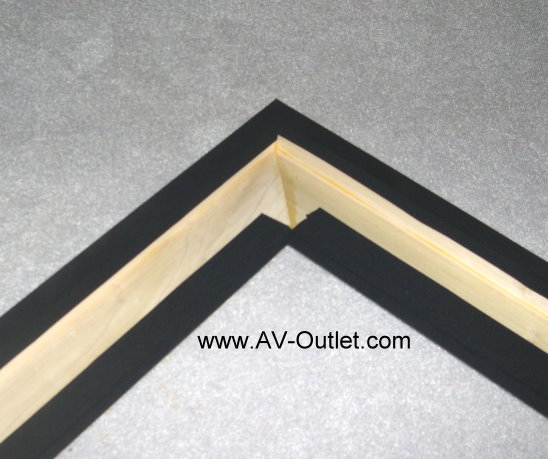 Diy Projection Screen Frame Step 2 Blackout Frame Fabric
