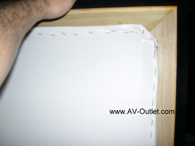 Diy Projection Screen Frame Step 4 Attach Projecection Material