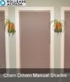 Custom Rollease Manual Chain Driven Shades