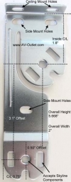 Rollease Skyline Double Shade Brackets - Vertical