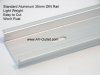 IDEC BNDN1000 Aluminum 35mm DIN RAIL 1 Foot