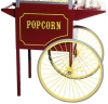 Paragon Large Red 12oz and 16oz Popcorn Popper Cart