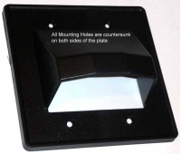 Arlington CE2-BK Reversible Bulk Wire Wall Plate - 2 Gang - Black